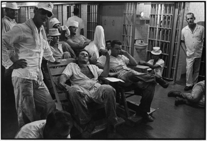 'Ramsey Prison Cell Block, Texas Prison, 1968' © Danny Lyon.