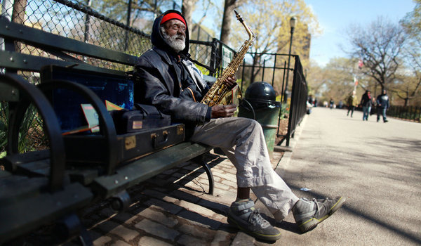 Giuseppi Logan in Tompkins Square Park