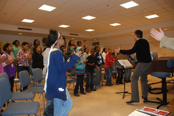 Children's Choir in rehearsal