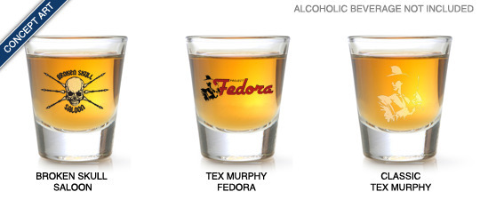 VOTE for the official Tex Murphy shot glass!