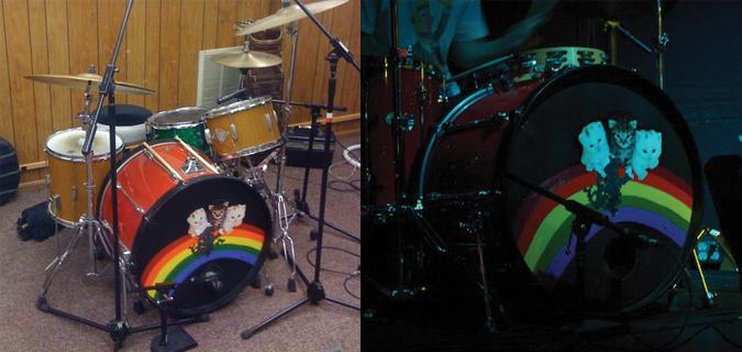 Sunbeam Rd. Kitten Bass Drum Head Reward