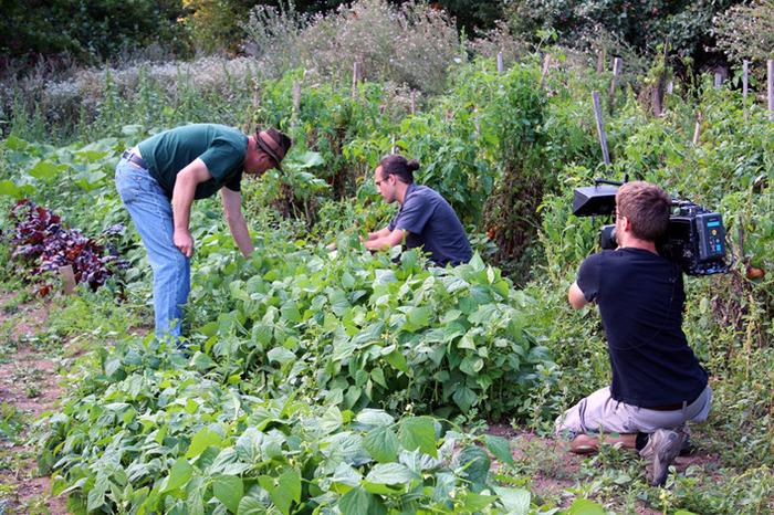 Host Jon Steinman and Chef Michael Stadtlander in the gardens of the world-renowned Eigensinn Farm.