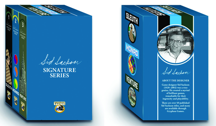 The NEW Sid Sackson Signature Series, shown in the Collectors' Set Deluxe Case
