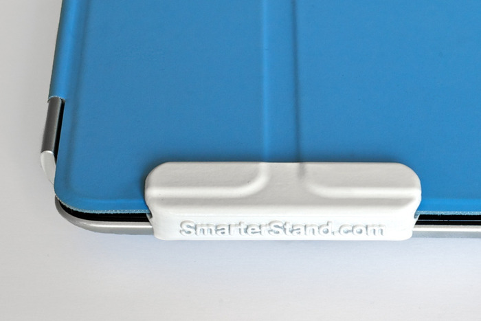 The clips are designed to slide smoothly on the Smart Cover yet stay firmly attached