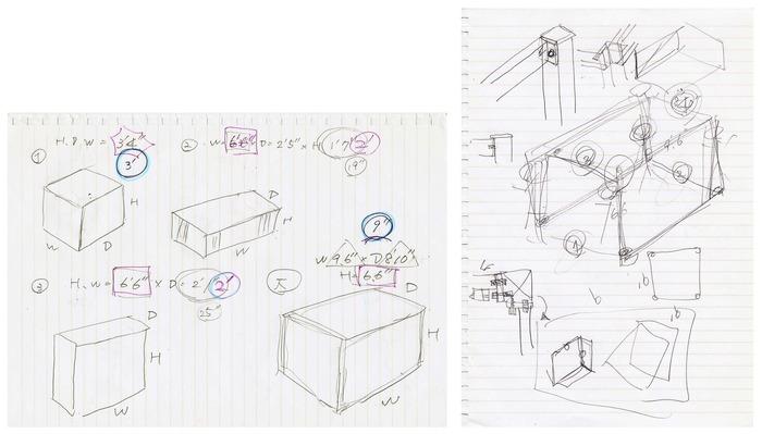 Drawing for the steel frames by Yasushi Nishikawa