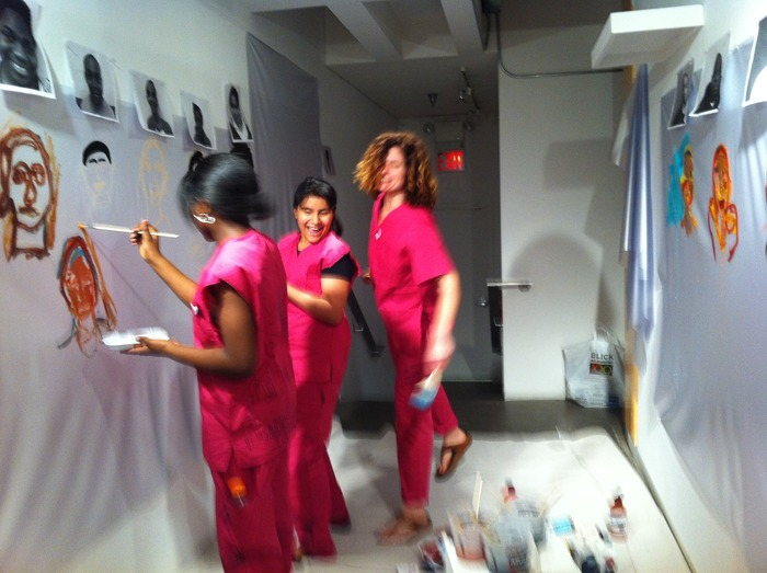 Live Painting for 1.1 at the Opening Night at BRIC Arts