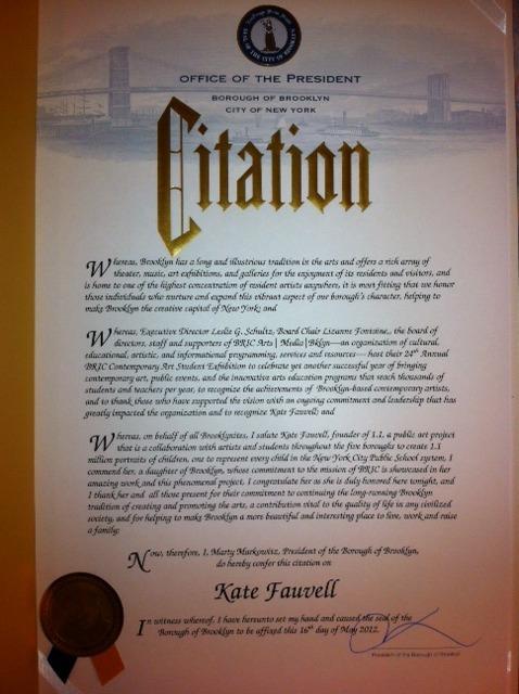 My Citation from Brooklyn