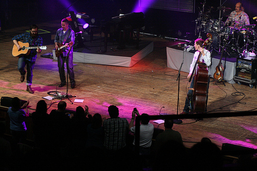 Sitting in with The Barenaked Ladies at The Ryman Auditorium in Nashville 2010