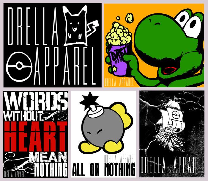 All 5 Sticker Designs