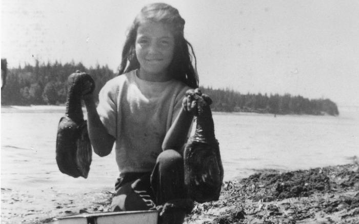 GEODUCK HARVEST courtesy of the Suquamish Museum