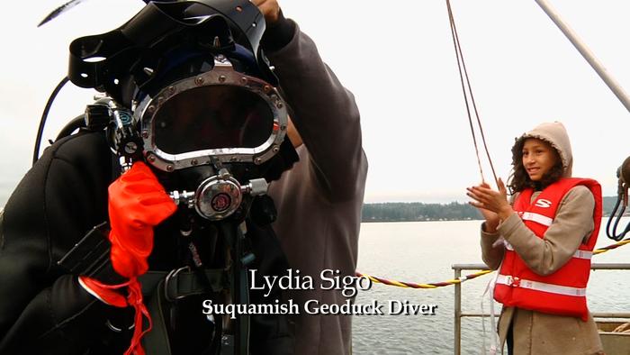 Lydia Sigo - Suquamish Geoduck Diver and Museum Curator