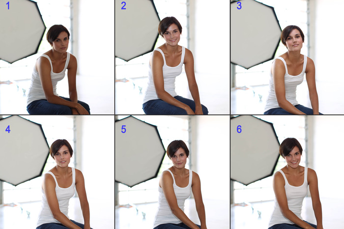 Studio Test: ambient, direct flash, bounce, competitor GF, competitor STO, FlashPipe.  All same settings, no retouching.