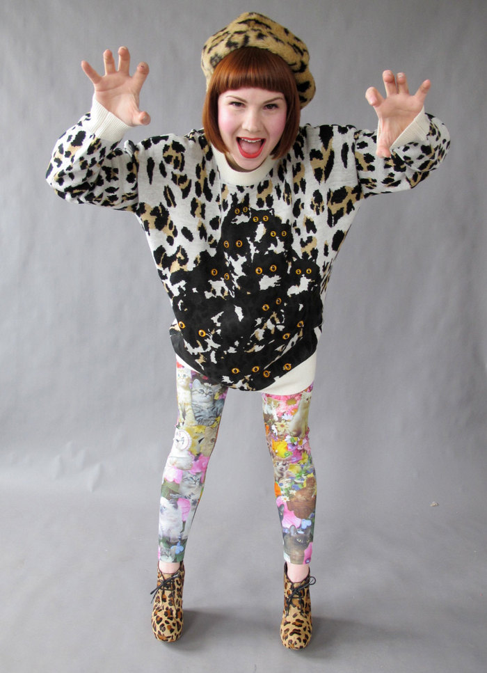 Cuckoo Kitty Sweater with Kitty Garden Party Leggings