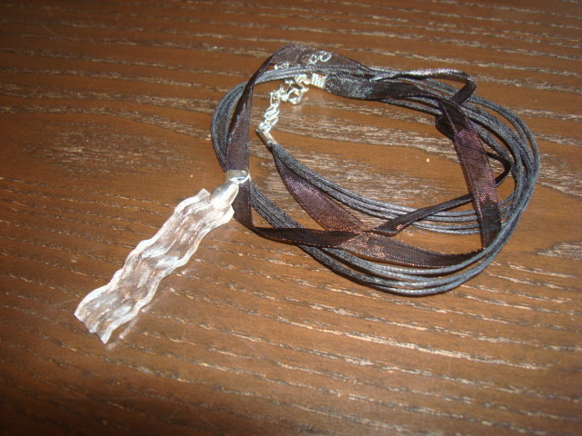 Black Ribbon Necklace