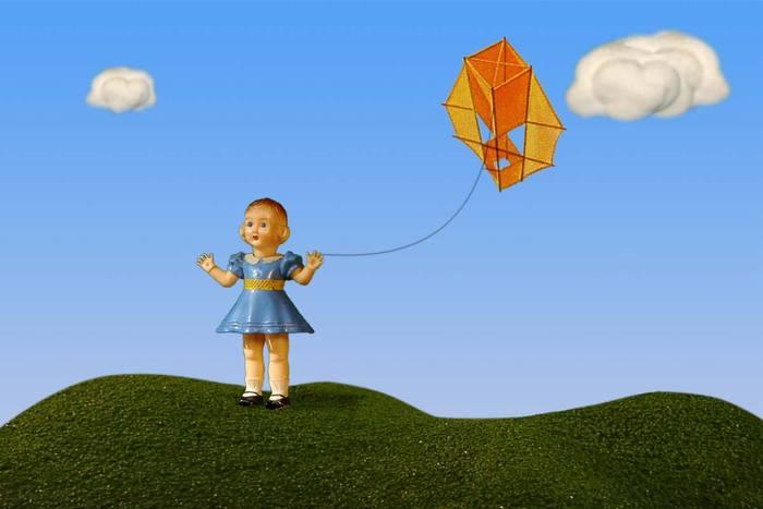 """Slatherpuss"" Print Series: ""Blue Kite Girl"""