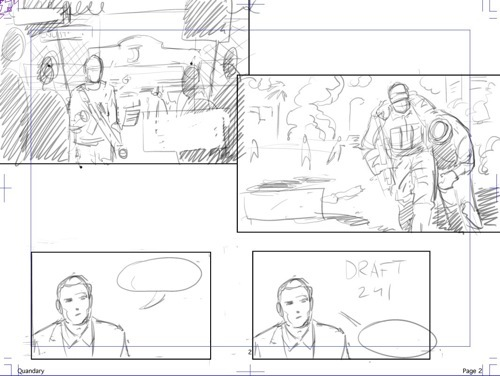 Page breakdown for page two of issue #1.