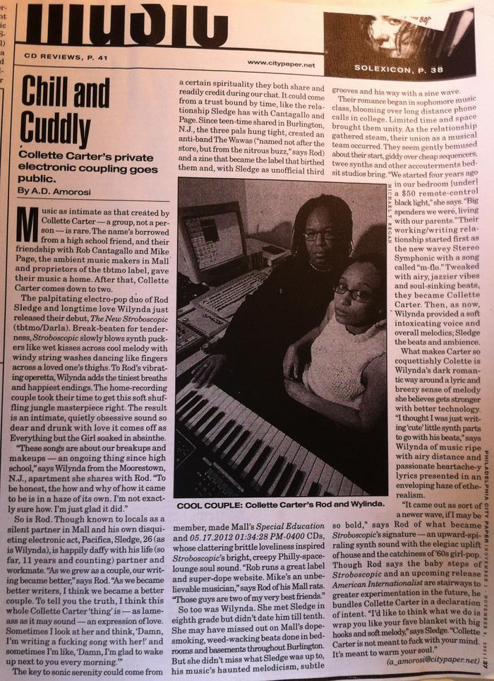 Philadelphia City Paper, Nov 2001