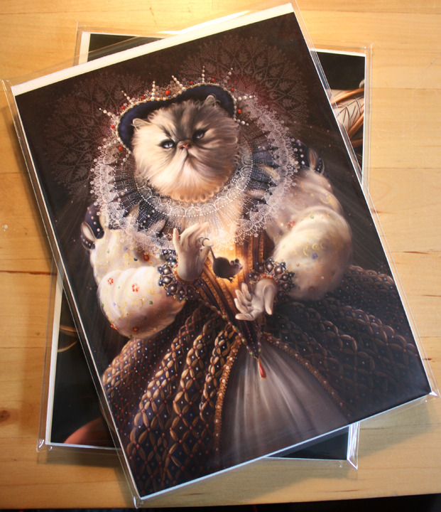 This image shows two packs of post cards.  Reward #4.
