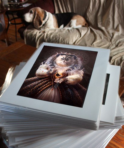 """Example of the 11""""x14"""" prints in packaging.  Rewards #8 & #9"""