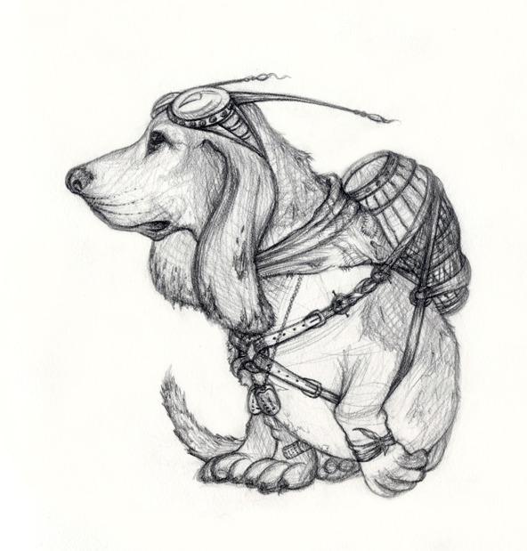 Example of animal sketch.  Reward # 8.