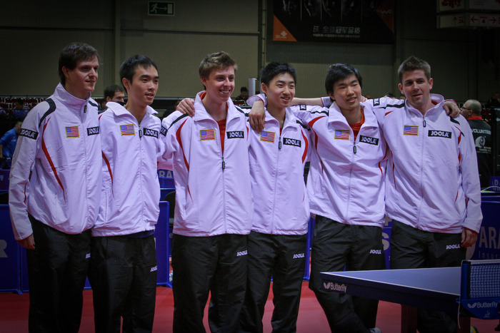 U.S. Men's National Team at the World Table Tennis Championships in Dortmund, Germany