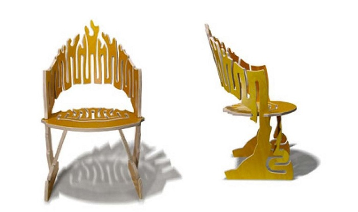 Gregg's Special Edition Flame Chair