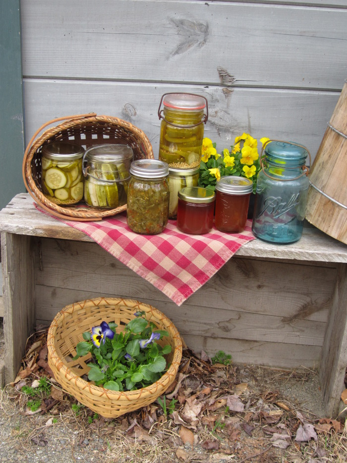 Home grown fruits and vegetables make delicious, crispy, fresh pickles, and incredible jams & jellies