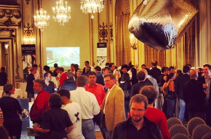 SkyCube's model balloon at the San Francisco Founders & Funder's forum, May 31st, 2012.  The real balloon will be 50% bigger!