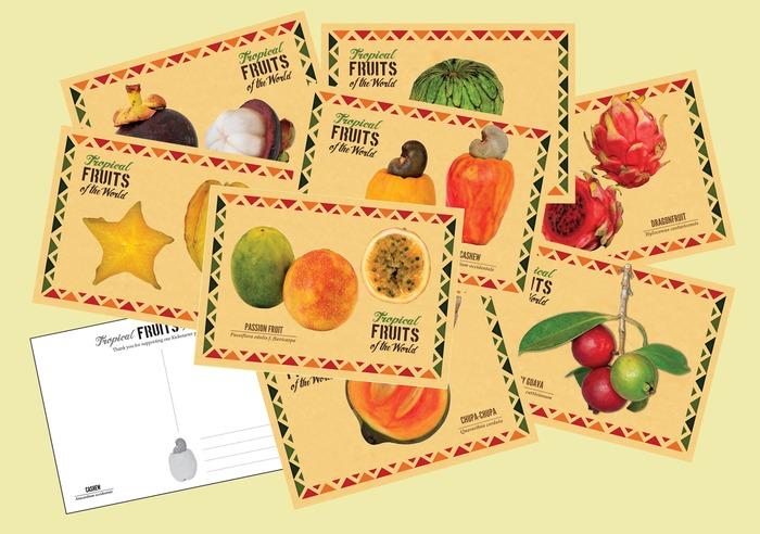 Tropical Fruits postcards