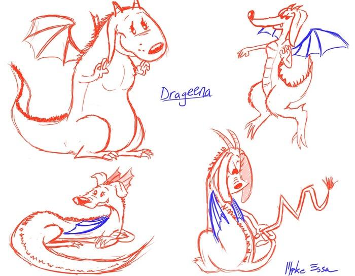 The Drageena - Development Sketches