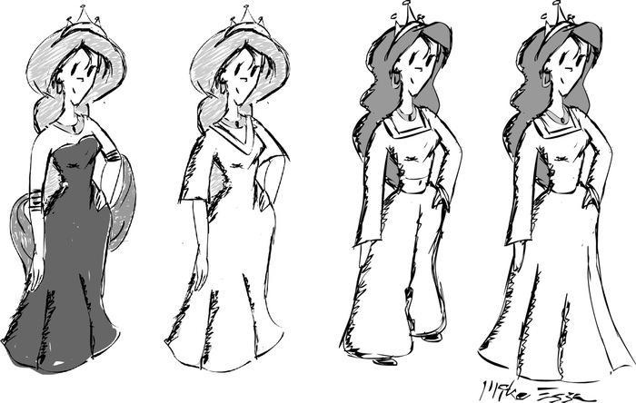 The Princess - Development Sketches