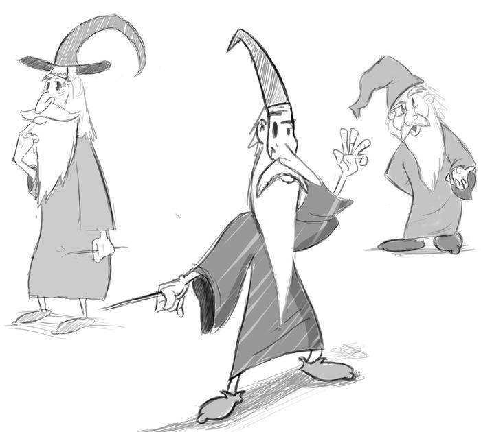 The Wizard - Development Sketches