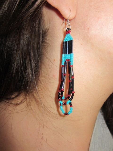Beaded-earrings by Stephanie Tabibian of the Shoshone/Paute Tribes
