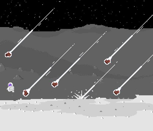 Dodge falling meteors!