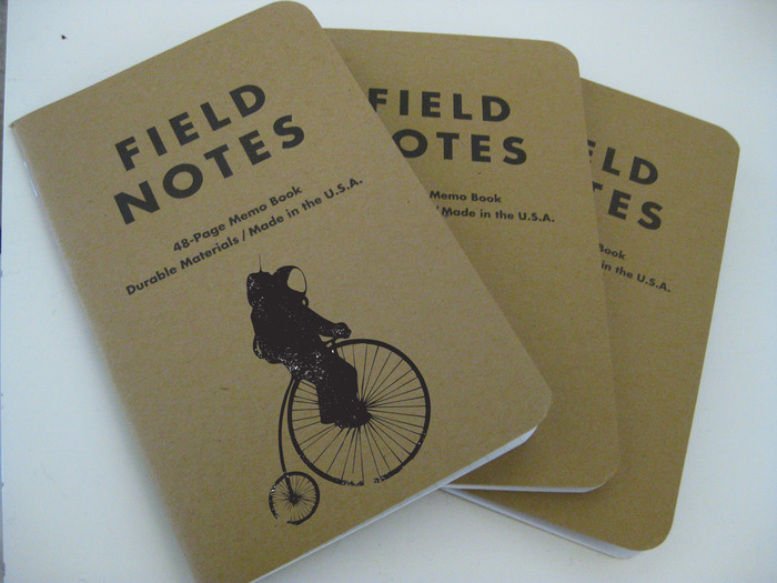 A mock-up of the Bicycle Astronomy Field Notes journals.