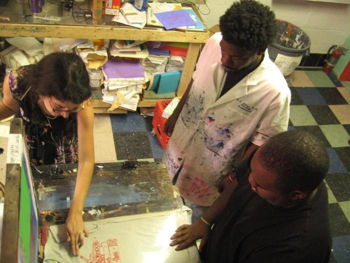Rachel Speck working with The Neighborhood Story Project
