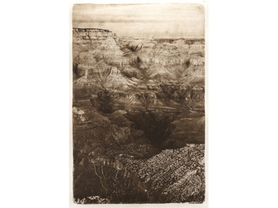 Winter Canyon (photogravure)