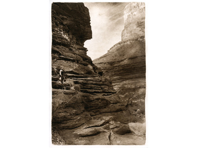 Elves Chasm: Looking Out  (photogravure)
