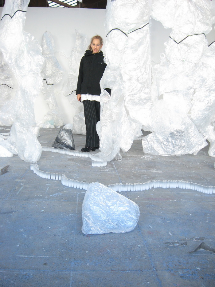 Standing in my installation Floe