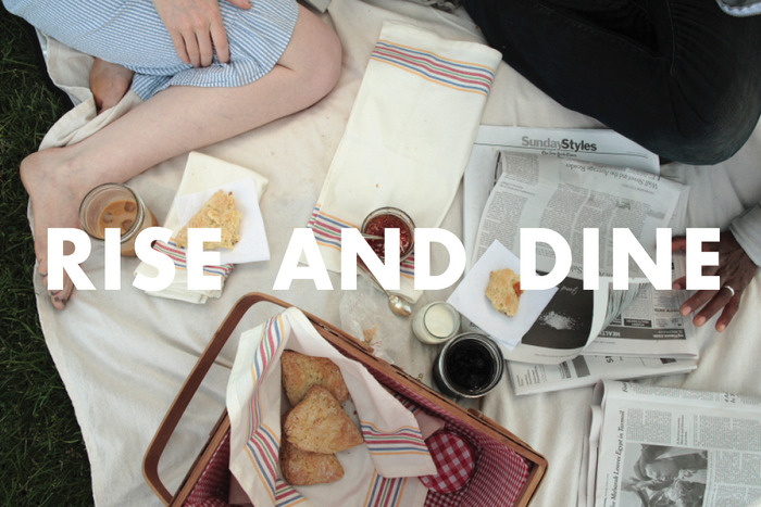breakfast picnic spread from Sweets & Bitters Quarterly #1