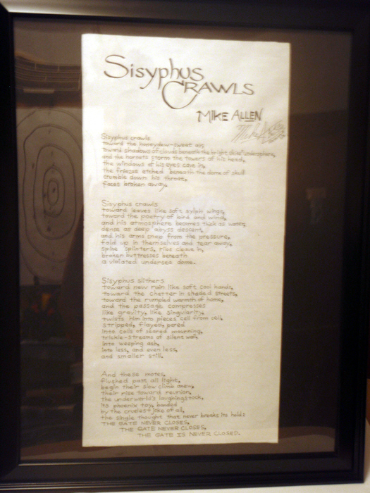 A custom-composed, hand-lettered and framed poem (by me!)