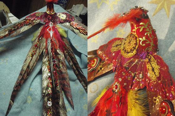 A Clockwork Phoenix craft sculpture by Anita Allen