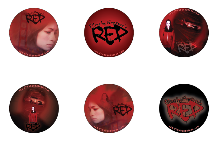 Promotional buttons, available at the $6 pledge level!