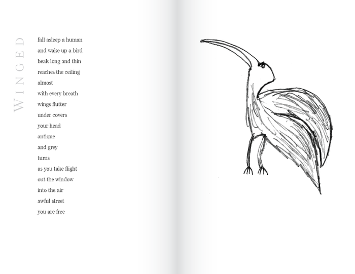 Sample page for the poem Winged