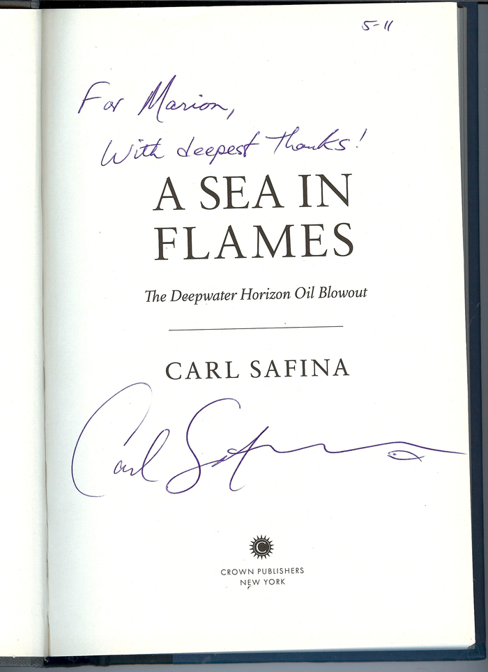 Carl Safina was a welcome addition to the filming in 2010, he gave us valuable insights and we in turn helped him experience the local angles.