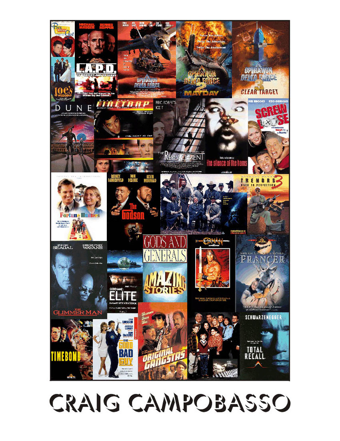 CRAIG CAMPOBASSO - DVD COVER RESUME - Some of the Films & Television Shows Craig has worked on over the years.