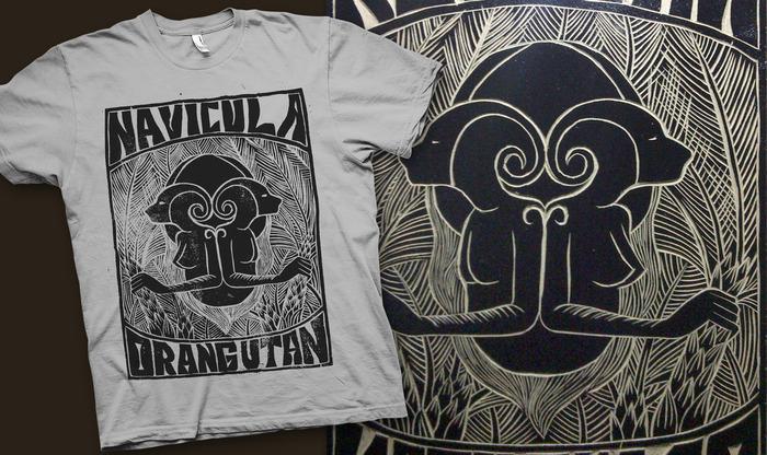 Handmade Woodcut Orangutan T-shirt