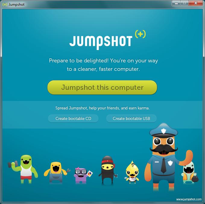 Screenshot of our Windows app