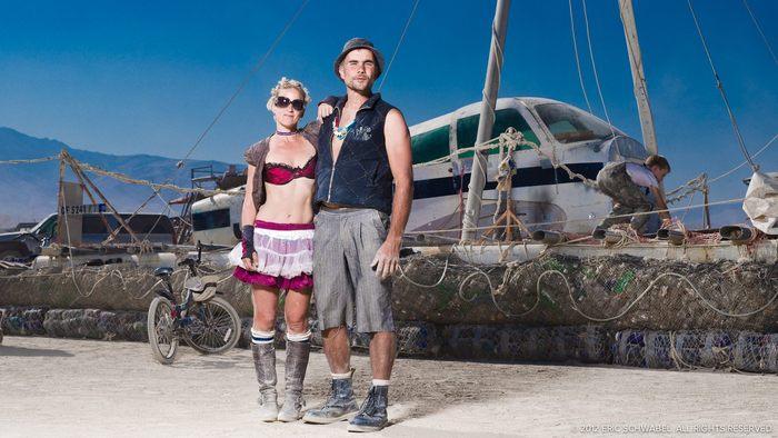 """""""Junk"""" installation and creators at Burning Man 2011"""