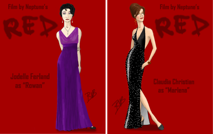 Rowan's and Marlena's gowns from the party scene (designed by Roman Voytko Barosse)